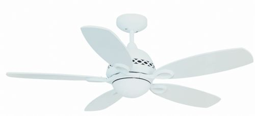 "Fantasia Phoenix  42"" Matt White Ceiling Fan + Remote Control +  Light 111771"